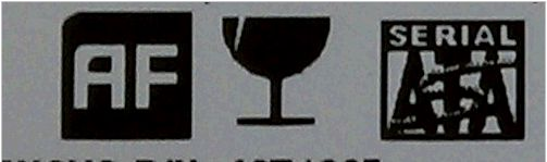 The drive with a AF label in the center of the drive