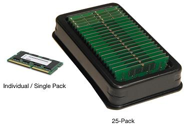 Notebook SODIMM single and 25-pack Memory