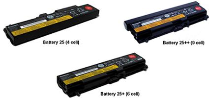 ThinkPad Battery 25, 25+, 25++