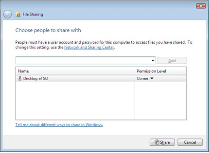 File sharing in Windows Vista