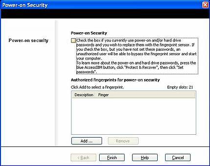Power-on security