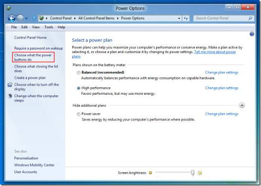 How to enable Hibernation in Windows 8