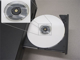 Fully inserted CD