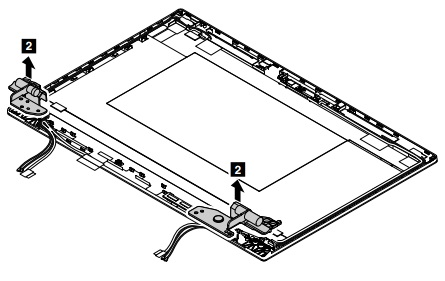 Removal steps of the wireless-LAN antenna kit and LCD rear