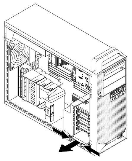 installing or replacing a hard disk drive - thinkstation d30  type 4223  4228 and 4229