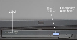 CD-RW/DVD drive cover