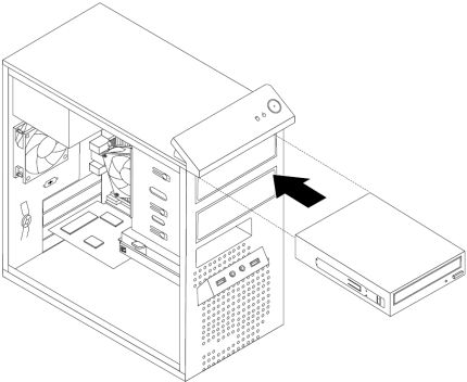 <p>Installing the optical drive</p>