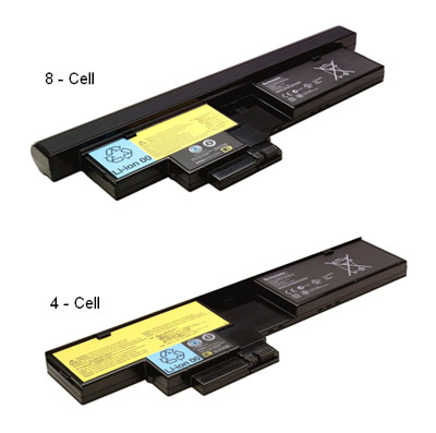 ThinkPad X200 Tablet 4-cell, 8-cell Batteries