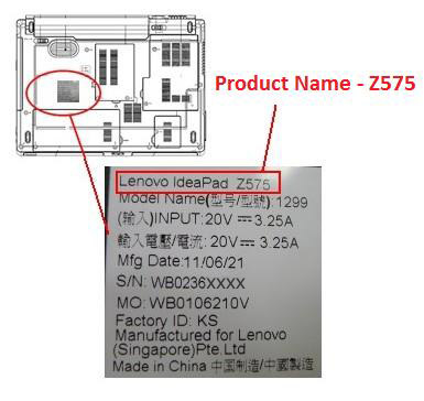 Find Product Name Amp Serial Number