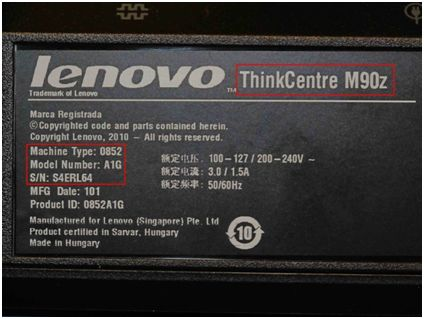 what does a lenovo serial number look like