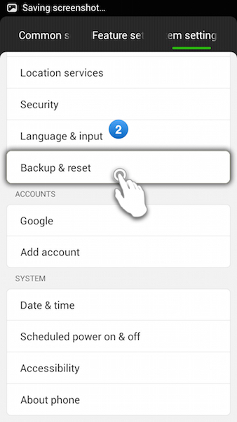 how to use ibm factory reset