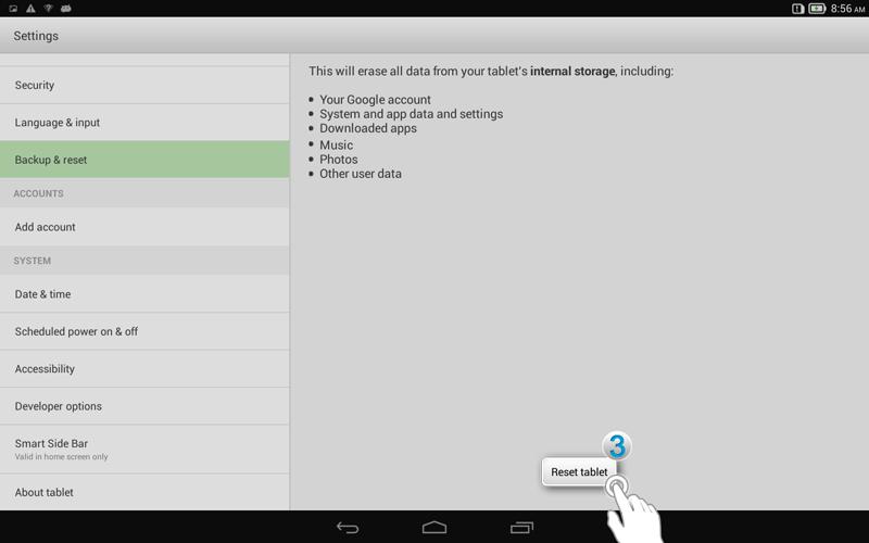 How do I restore factory settings - Yoga Tablet 10 - Lenovo Support