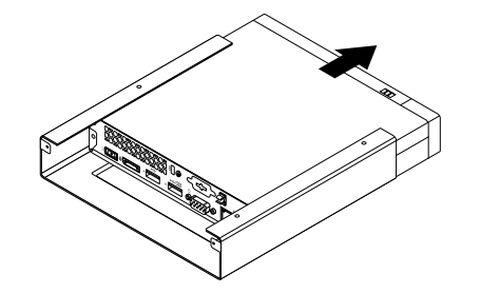 Installing and removing the VESA mount bracket