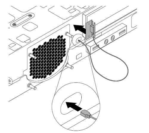 Installing or removing the front Wi-Fi antenna