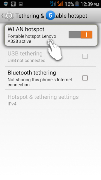 how to set up portable wifi hotspot on android