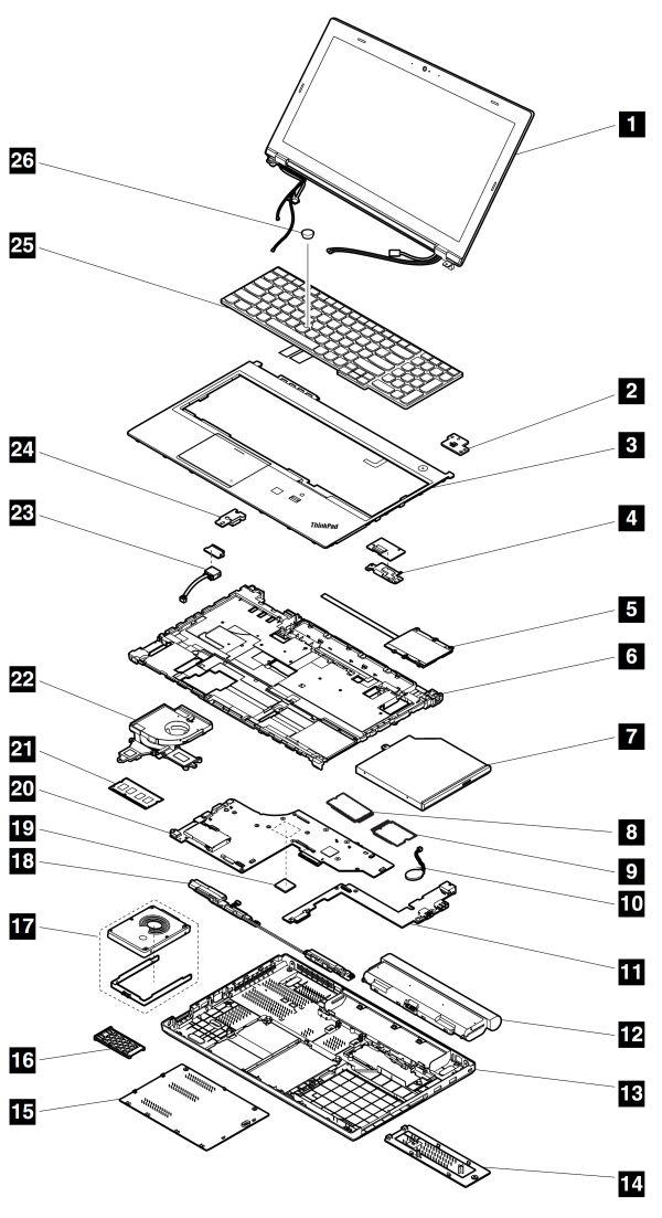 system service parts - thinkpad t540p  w540  w541