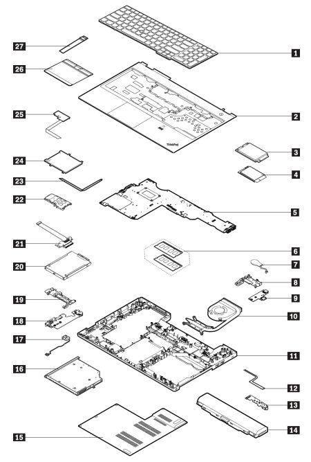 system service parts - thinkpad l560