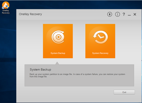 one key recovery software lenovo  software