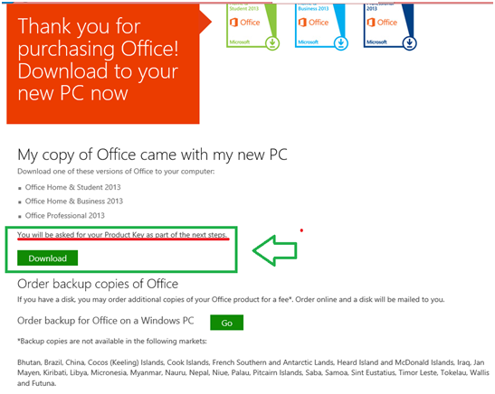microsoft office 365 already have product key