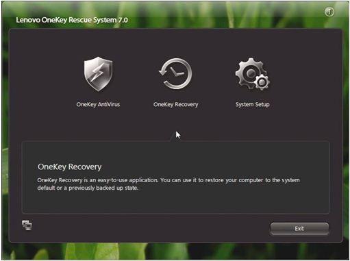 lenovo onekey recovery  windows 8.1