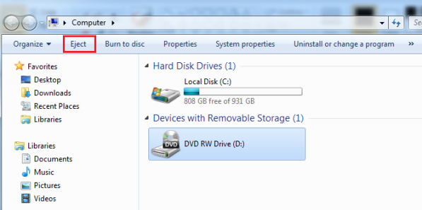 how to find out whats using my external drive